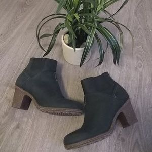 Clarks black leather booties